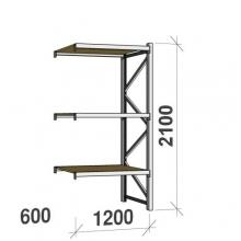 Laoriiul jätkuosa 2100x1200x600 600kg/tasapind,3 PLP tasapinda