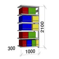 Arhiiviriiul lisaosa 2100x1000x300 200kg/riiuliplaat,6 plaati