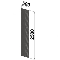 Side sheet 2500x500 perforated