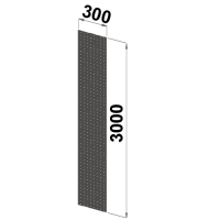 Side frame closed perforated 3000x300