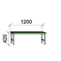 Istepink metallist kattega 1200x290x420