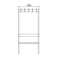 Double bench 1700x900x770 10 hook rail
