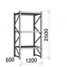 Maxi starter bay 2500x1200x600 600kg/level,3 levels with steel decks