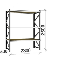 Starter bay 2500x2300x500 350kg/level,3 levels with chipboard