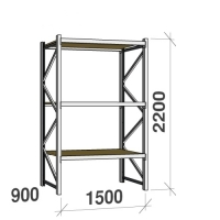 Starter bay 2200x1500x900 600kg/level,3 levels with chipboard