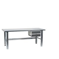 Töölaud 1500x800 kaheosalise sahtli ja tsingitud jalgadega