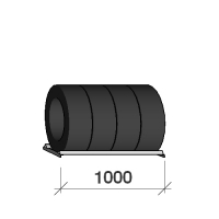 Tire shelf 1000x500