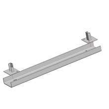 Support rail for frame L=1100mm; 160x60x5