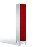 3-tier locker, 3 doors, 1850x320x500 mm