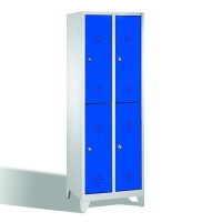 2-tier locker, 4 doors, 1850x610x500 mm