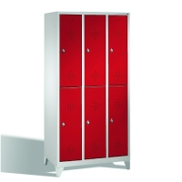 2-tier locker, 6 doors, 1850x900x500 mm
