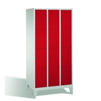 4-tier locker, 12 doors, 1850x900x500 mm