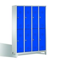 2-tier locker, 8 doors, 1850x1190x500 mm