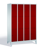 3-tier locker, 12 doors, 1850x1190x500 mm