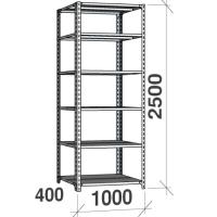 Metallriiul 2500x1000x400, 6 plaati, 120kg/plaat, hall