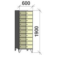 10-tier locker, 20 doors, 1900x600x545 mm