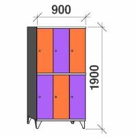 Sektsioonkapp 6 ust, 1900x900x545 mm