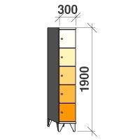 Sektsioonkapp, 5 ust, 1900x300x545 mm