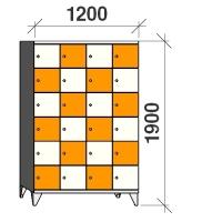 6-tier locker, 24 doors, 1900x1200x545 mm