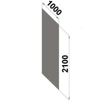Back sheet metal 2100x1000