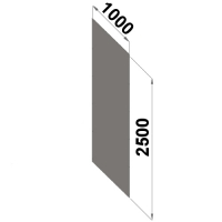 Back sheet metal 2500x1000 zn