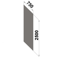 Back sheet panel 2500x750