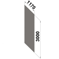 Back sheet panel 3000x1170