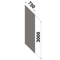 Back sheet panel 3000x750