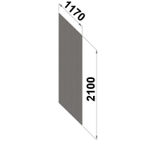 Perf.back sheet metal 2100x1170 zn