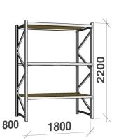 Metallriiul põhiosa 2200x1800x800 480kg/tasapind,3 puitlaast tasapinda