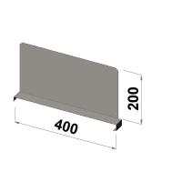 Shelf divider 400x200 zn