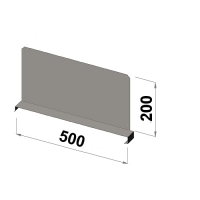 Shelf divider 500x200 zn