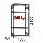 Laoriiul põhiosa 2100x1000x400 200kg/riiuliplaat,5 plaati