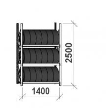 Rehviriiul, põhiosa 2500x1400x500, 3 korrust, 600kg/tasapind