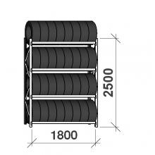 Starter bay, 2500x1800x500, 4 levels