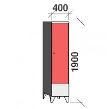 Riidekapp 1x400 1900x400x545