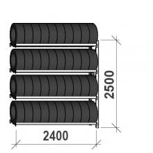 Rehviriiul, jätkuosa 2500x2400x500. 4 korrust, 300kg/tasapind
