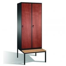 2-door locker with bench, 2090x810x815, MDF doors