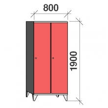 Locker 2x400, 1900x800x545, long door