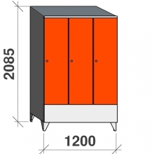 Locker 3x400, 2085x1200x545 short door, sloping top