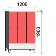 Riidekapp 3x400 1900x1200x545