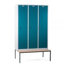 3 door locker with bench 1200x810x2090