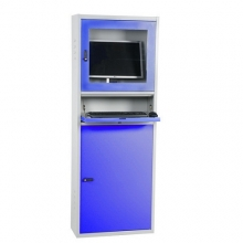 Computer cabinet 1730x280x640 mm grey/blue