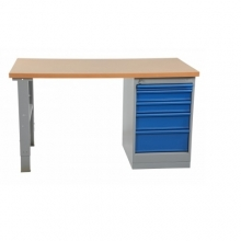 Worktable with drawer unit 5 drawers 1600x800 board