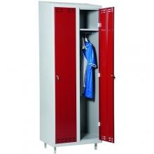 Riidekapp 2 uksega, punane/hall 1920x700x550