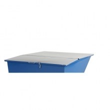 Flat lid for tipping container 150 l, grey