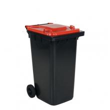 Refuse bin 240L, red lid