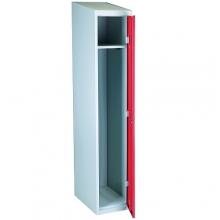 Riidekapp 1 uksega, punane/hall  1920x350x550