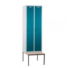 2 door locker with bench 610x810x2090