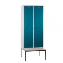 2 door locker with bench 810x810x2090